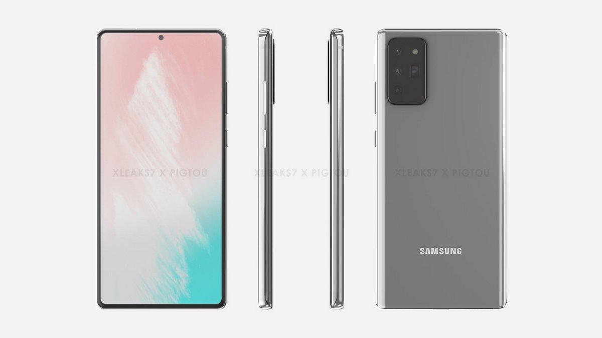 Samsung Galaxy Note 20 rendu © © Pigtou / xleaks7
