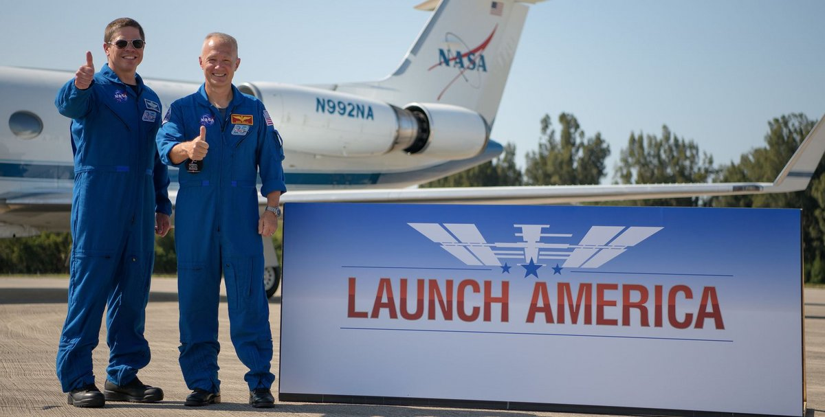 astronautes Commercial Crew SpaceX © NASA/B. Ingalls