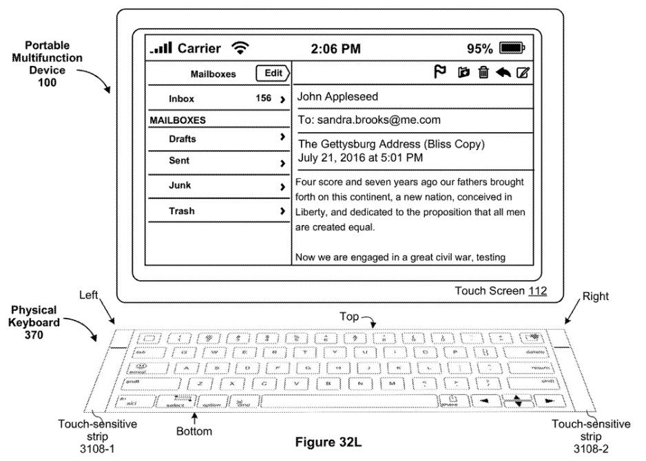 Keyboard-croquis © © Apple via Apple Insider