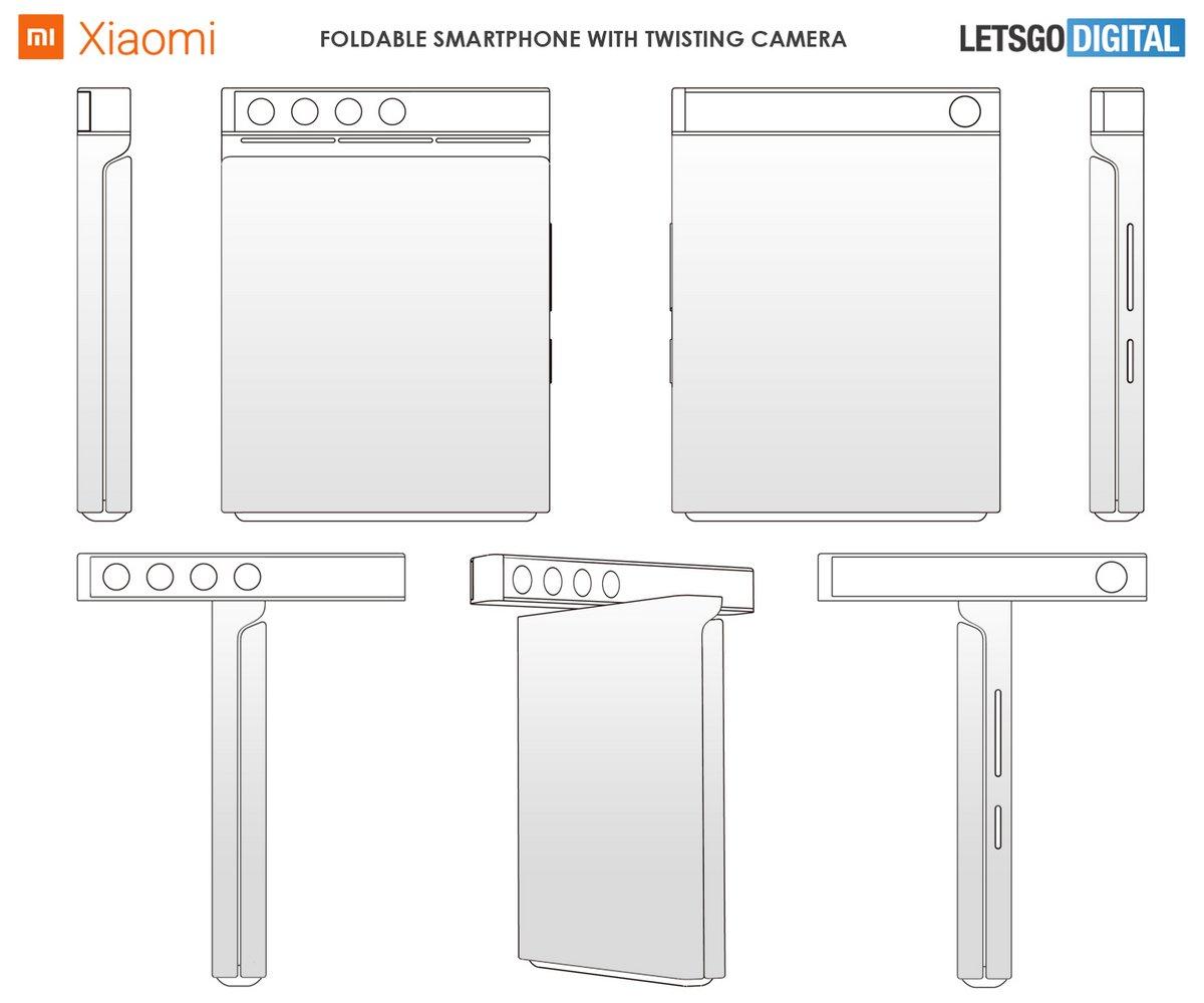 Xiaomi smartphone pliable caméra rotative