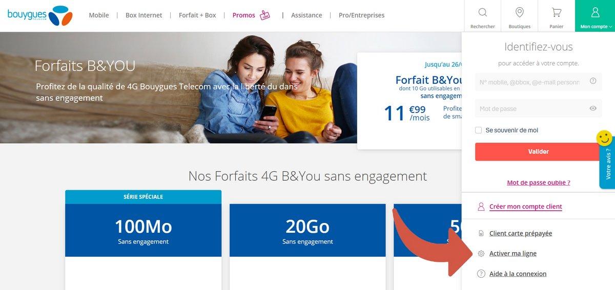 Activer ligne Bouygues Telecom © Bouygues Telecom