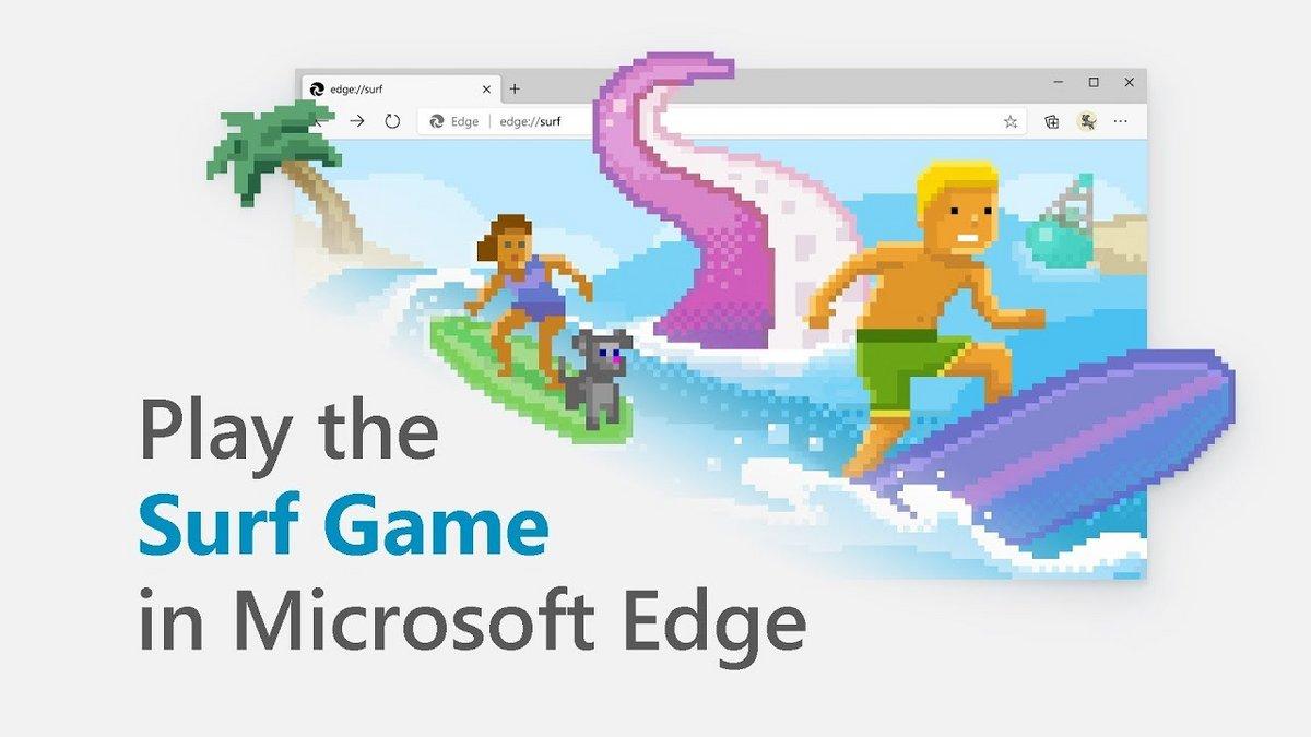 Microsoft Edge Surf Game © © Microsoft