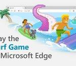 Chrome a son dinosaure, Edge a désormais son jeu de surf