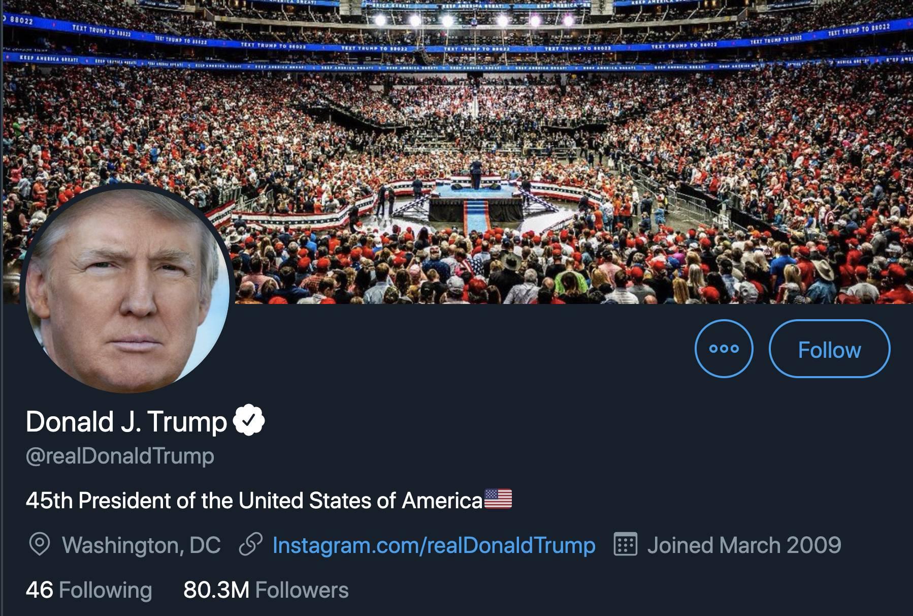 Twitter fact-check un tweet de Donald Trump, le président menace de fermer les réseaux sociaux