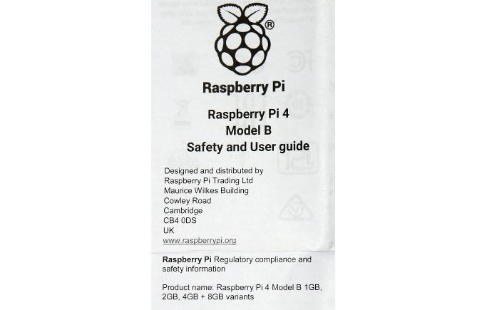 Notice Pi 4 © Raspberrypi.org