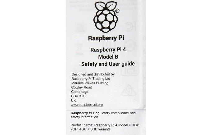 Notice Pi 4 ©Raspberrypi.org