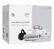 Un pack Philips Home Mini + Chromecast + Hue E27 + Smart Plug à 170,99€