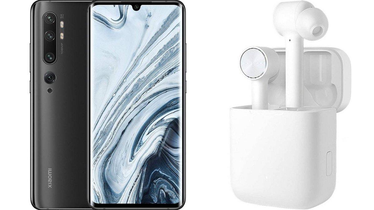 Xiaomi Mi Note 10 avec écouteurs