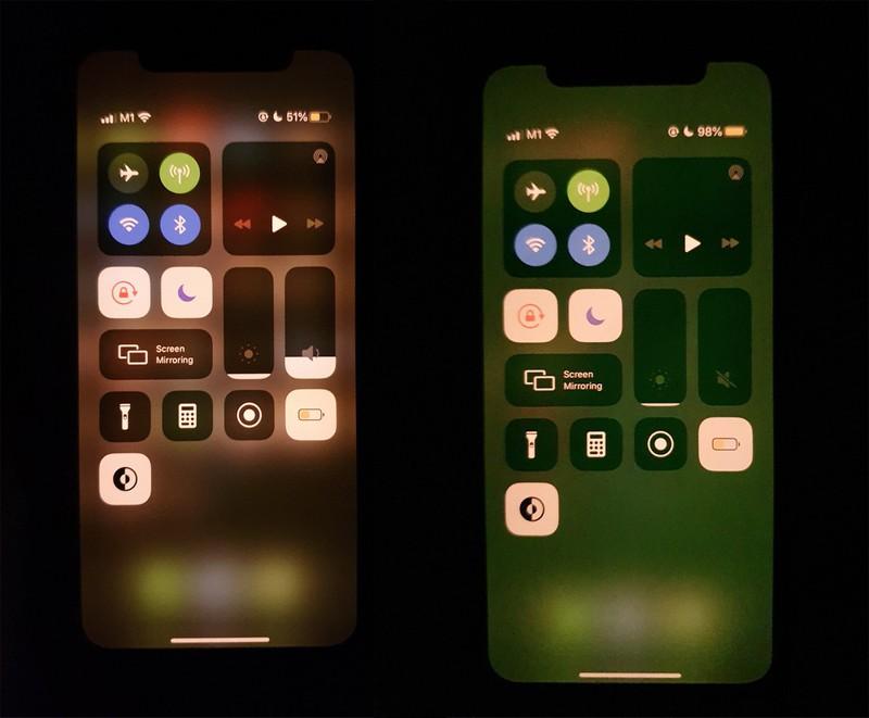 iPhone Ecran Vert