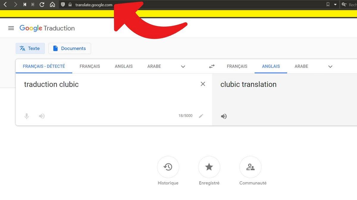 Google Traduction supprimer historique