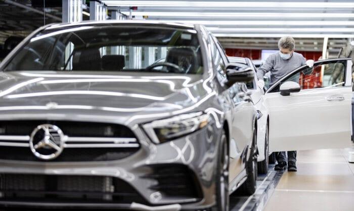 Mercedes CLA Shooting Brake 2020 250e usine © Mercedes-Benz