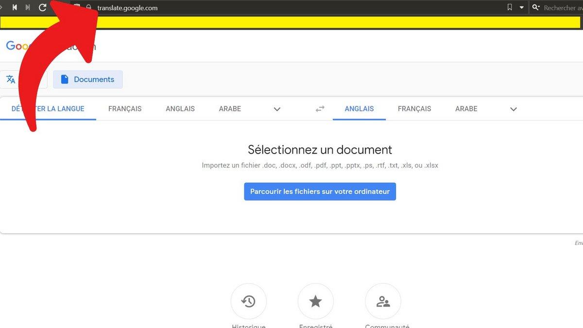 Google Traduction traduire un document