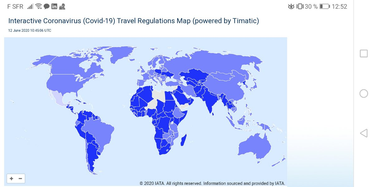 Carte IATA version mobile