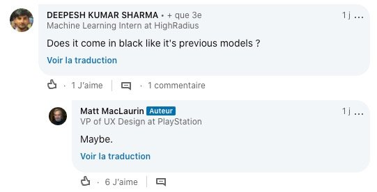 PS5 version noire ©LinkedIn
