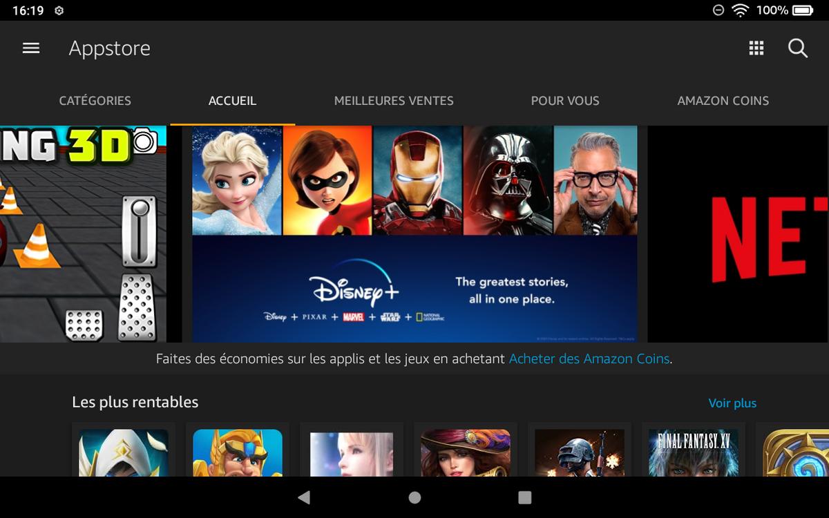 Amazon Fire HD 8 - AppStore