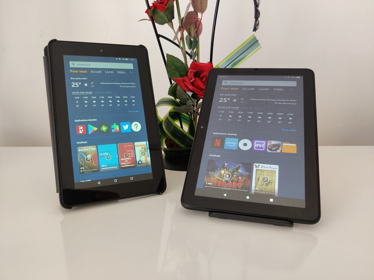 Amazon Fire HD 8 - Comparaison de Fire 7