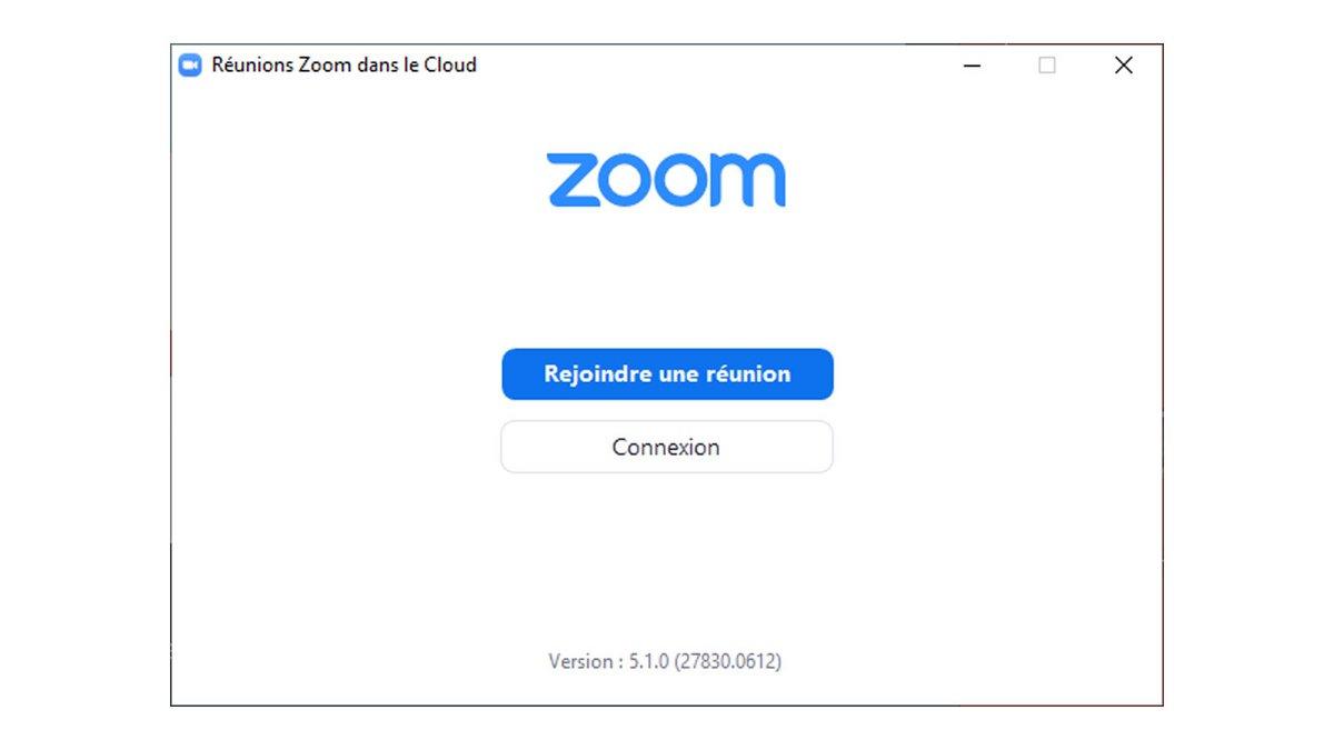 Fenêtre de connexion Zoom