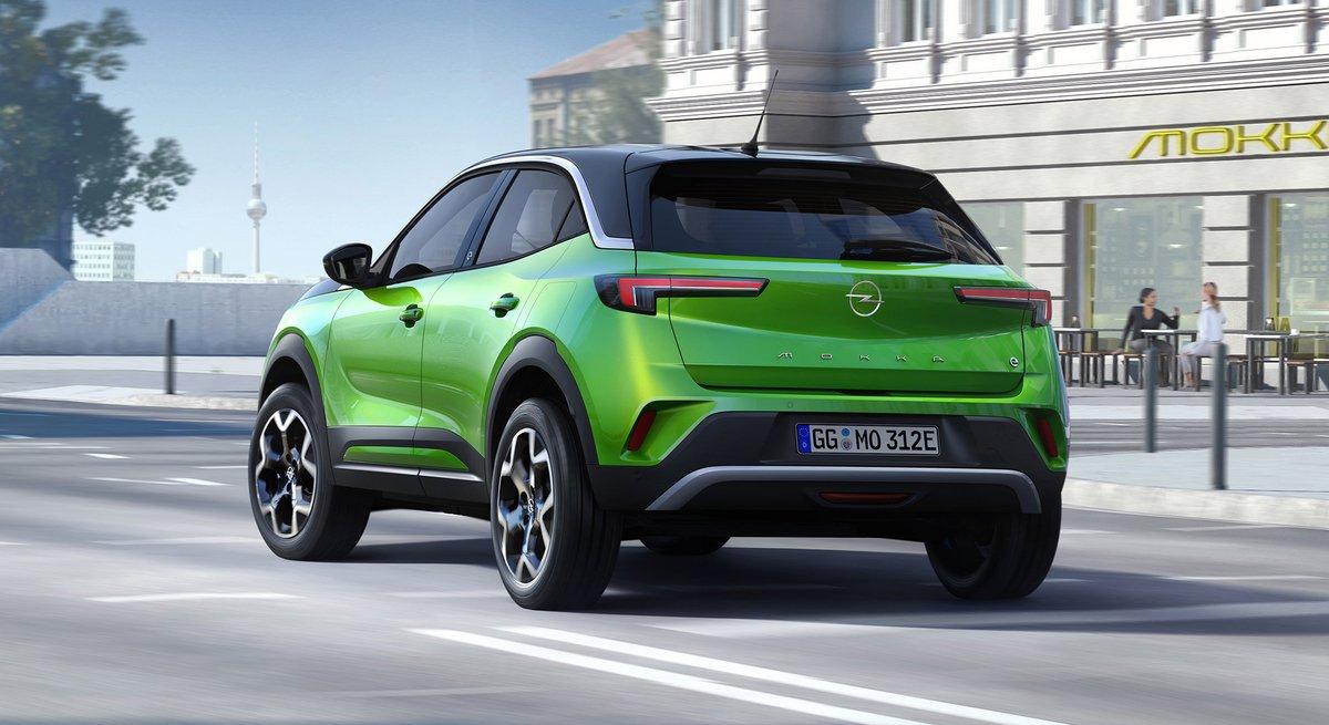 Opel Mokka-e, l'arrière