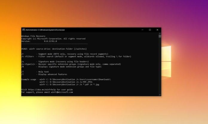 Windows File Recovery © Windows / WindowsLatest.com