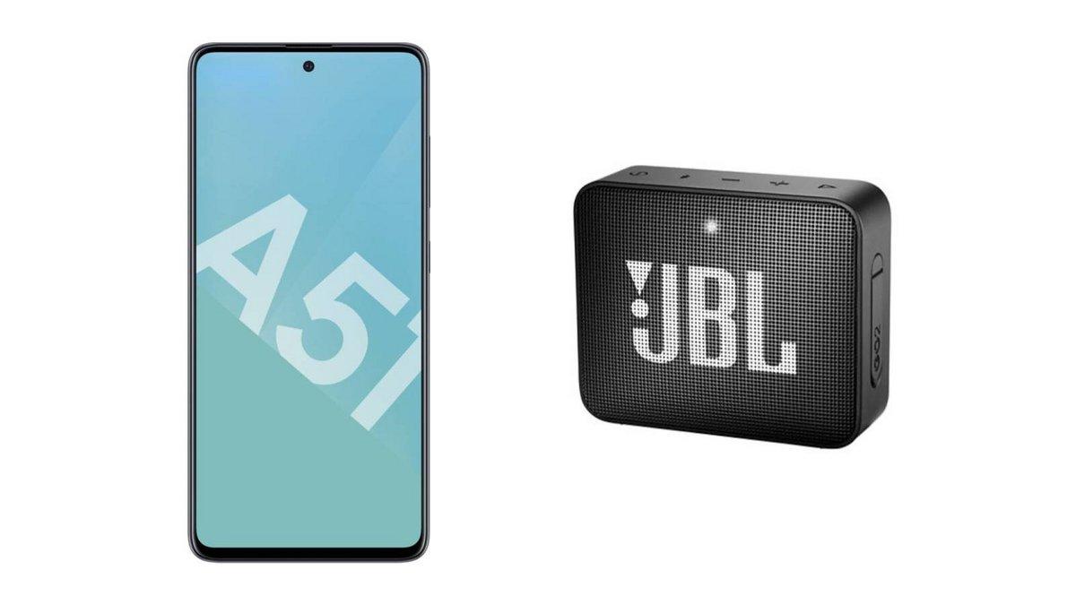 Samsung Galaxy A51 + enceinte JBL GO 2