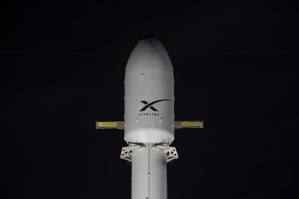 Starlink Falcon9 SpaceX coiffe © SpaceX