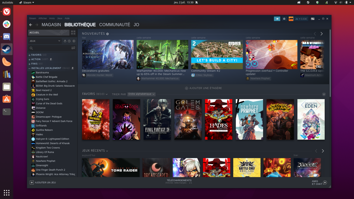 Gaming Linux Steam