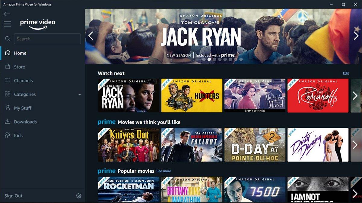 Amazon Prime Video Windows © Amazon / Windows