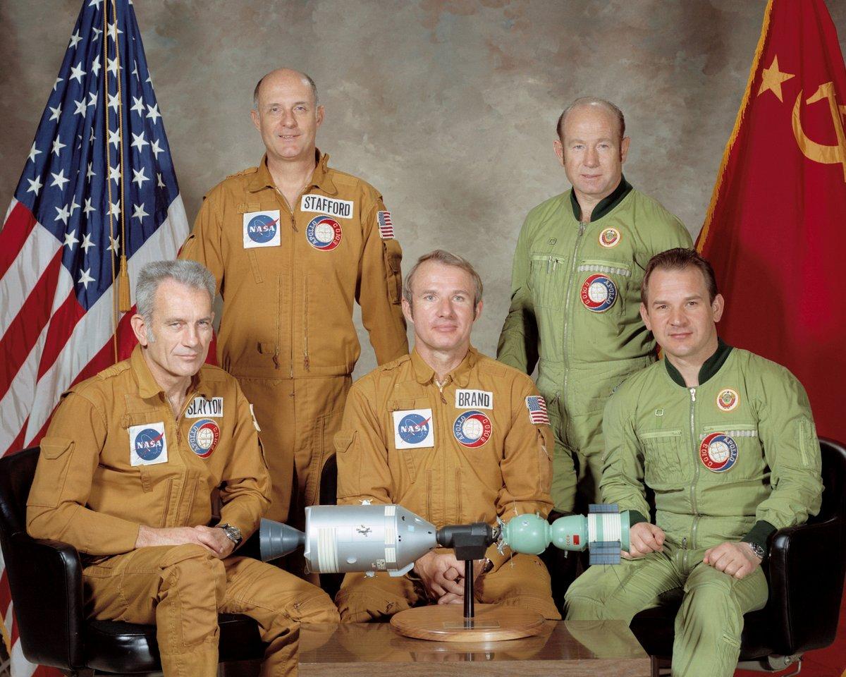 Apollo Soyouz Equipage 1975 © NASA