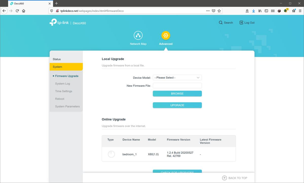 TP-Link Deco X60 - interface web