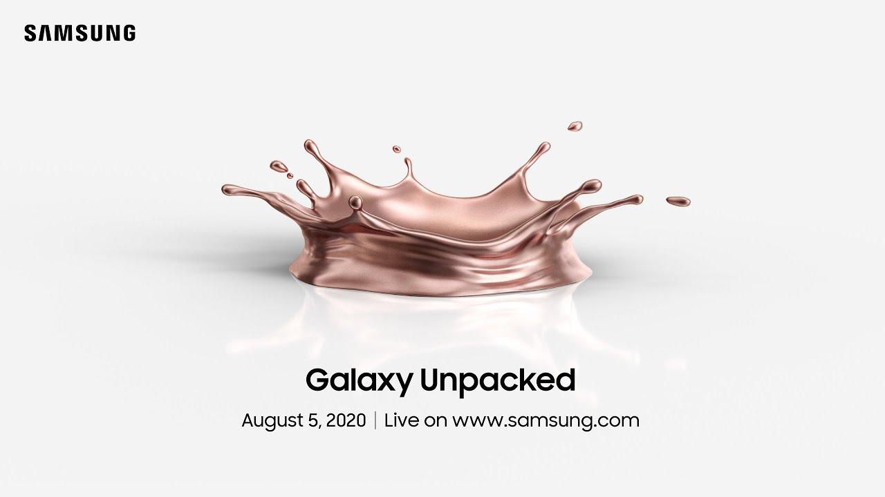 Samsung officialise sa conférence Galaxy Unpacked au 5 août prochain