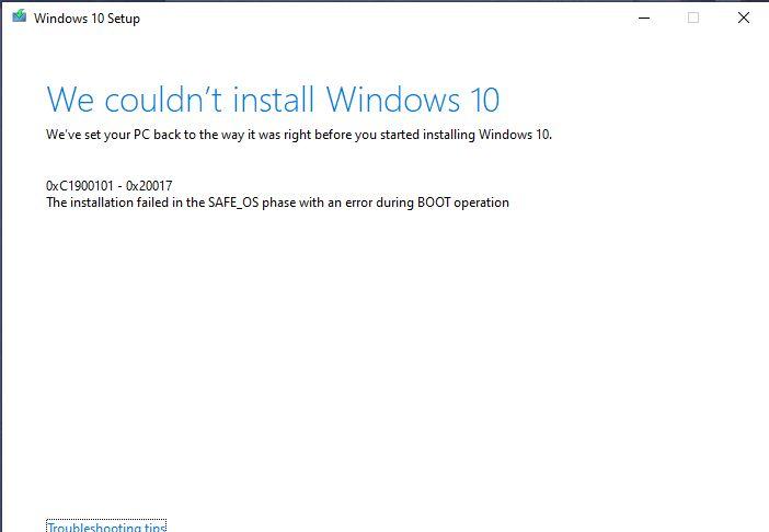 Windows 10 Mise à jour © Reddit