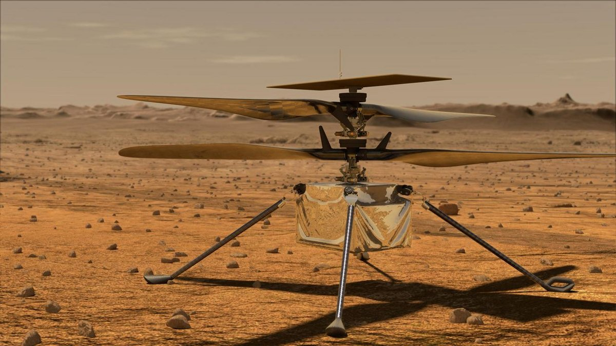 Mars2020 hélicoptère ingenuity © NASA/JPL-Caltech