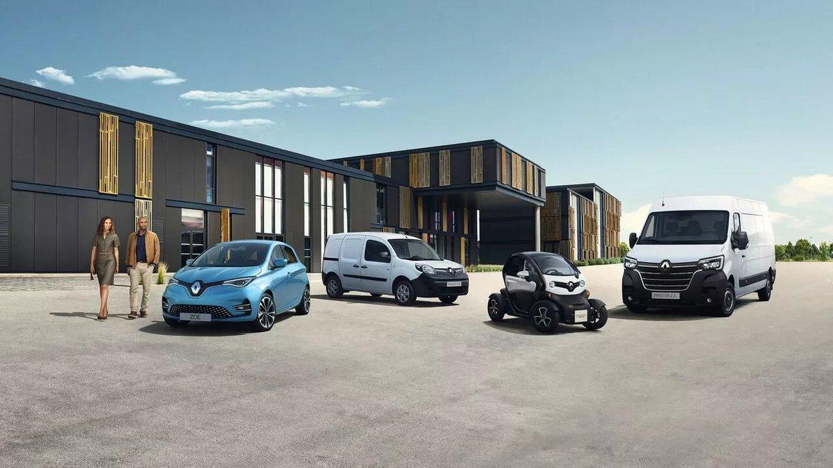 Gamme Renault ZE 2020 © Renault