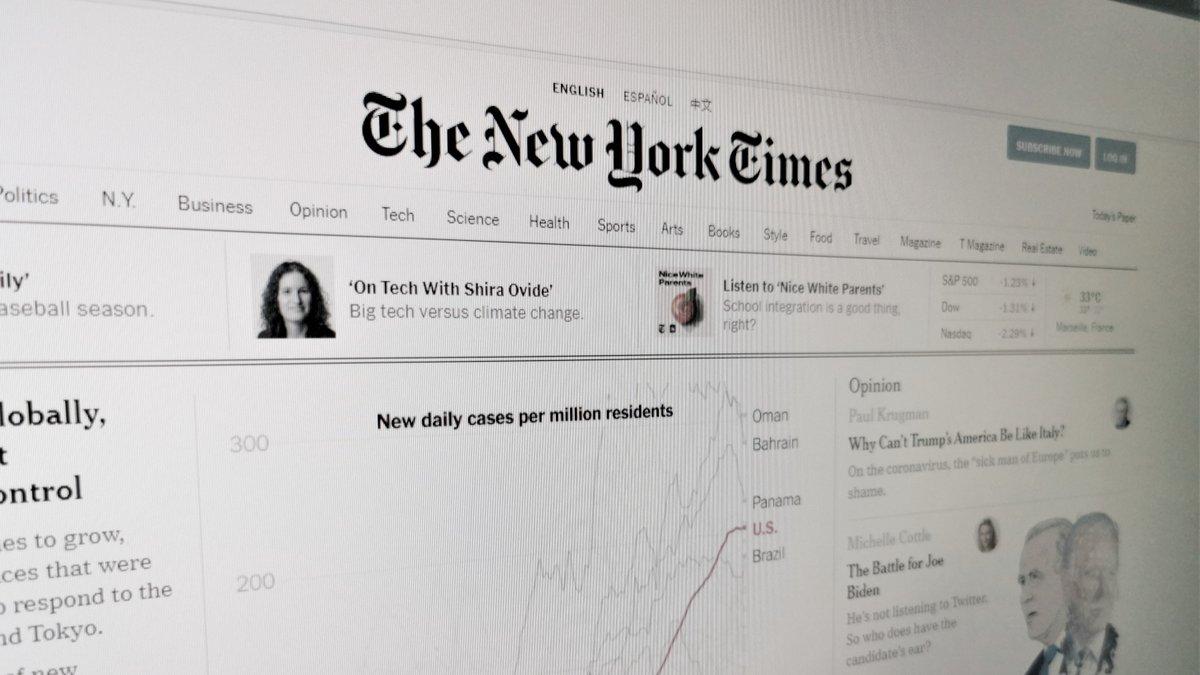 New York Times © Alexandre Boero pour Clubic