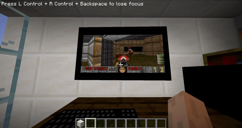 Minecraft Windows 95 Doom