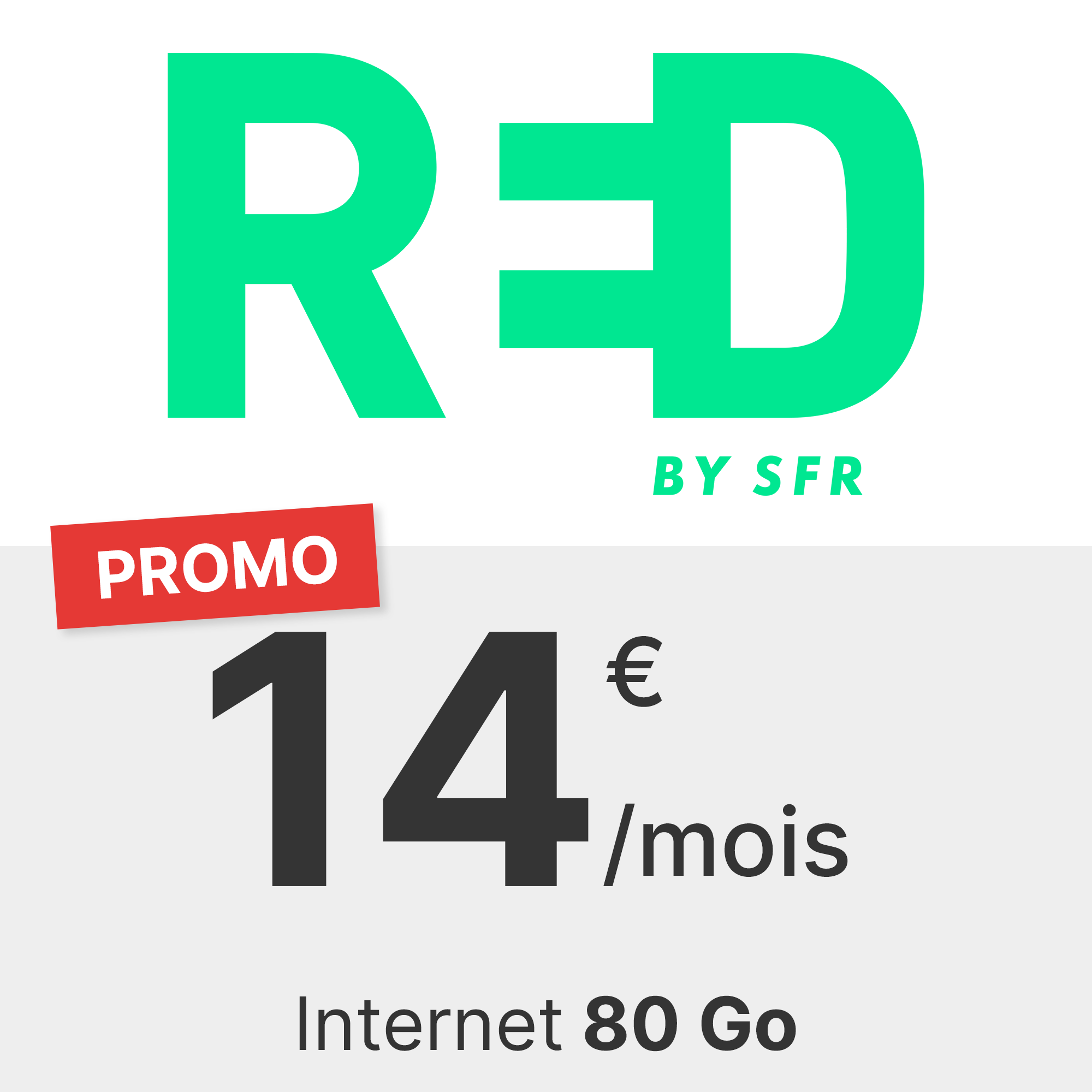 Forfait RED 80 Go