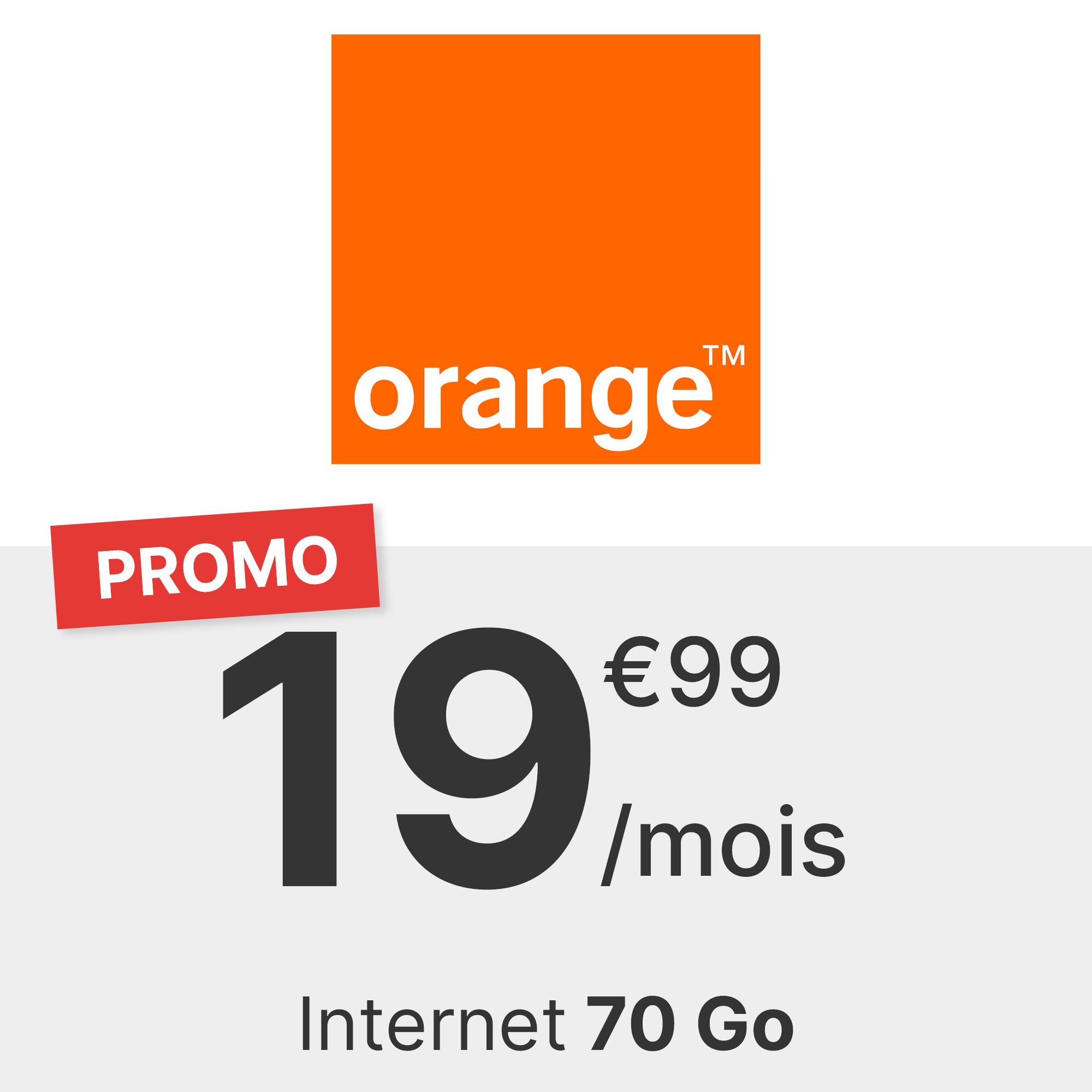 Forfait Orange 70 Go