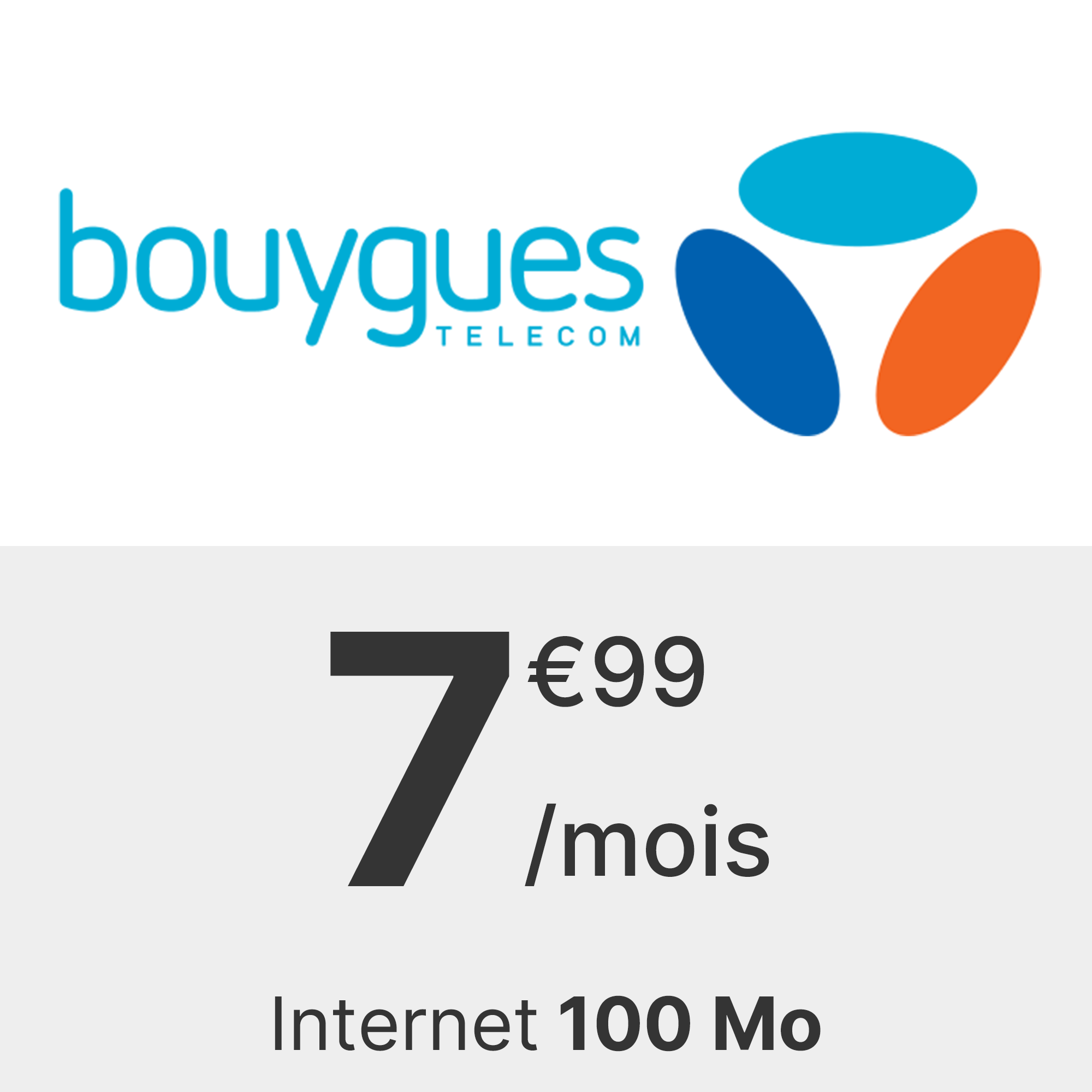Forfait Bouygues 100 Mo