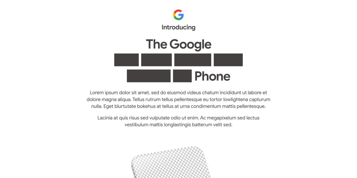 Google Pixel 4a teaser © ©Google
