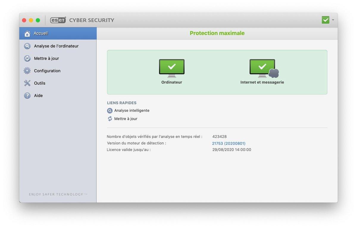 ESET Cyber Security Mac 0022.jpg © Clubic.com/Stephane Ruscher