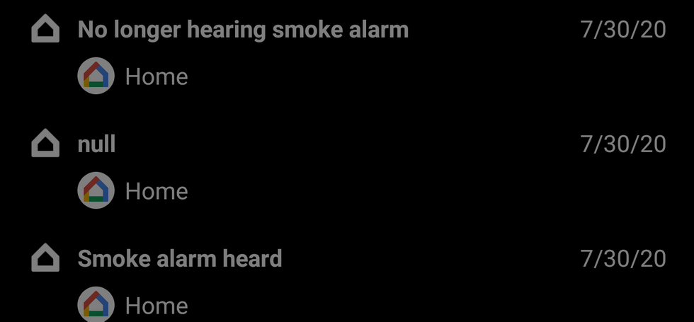 Google Home détection fumée © ©Reddit