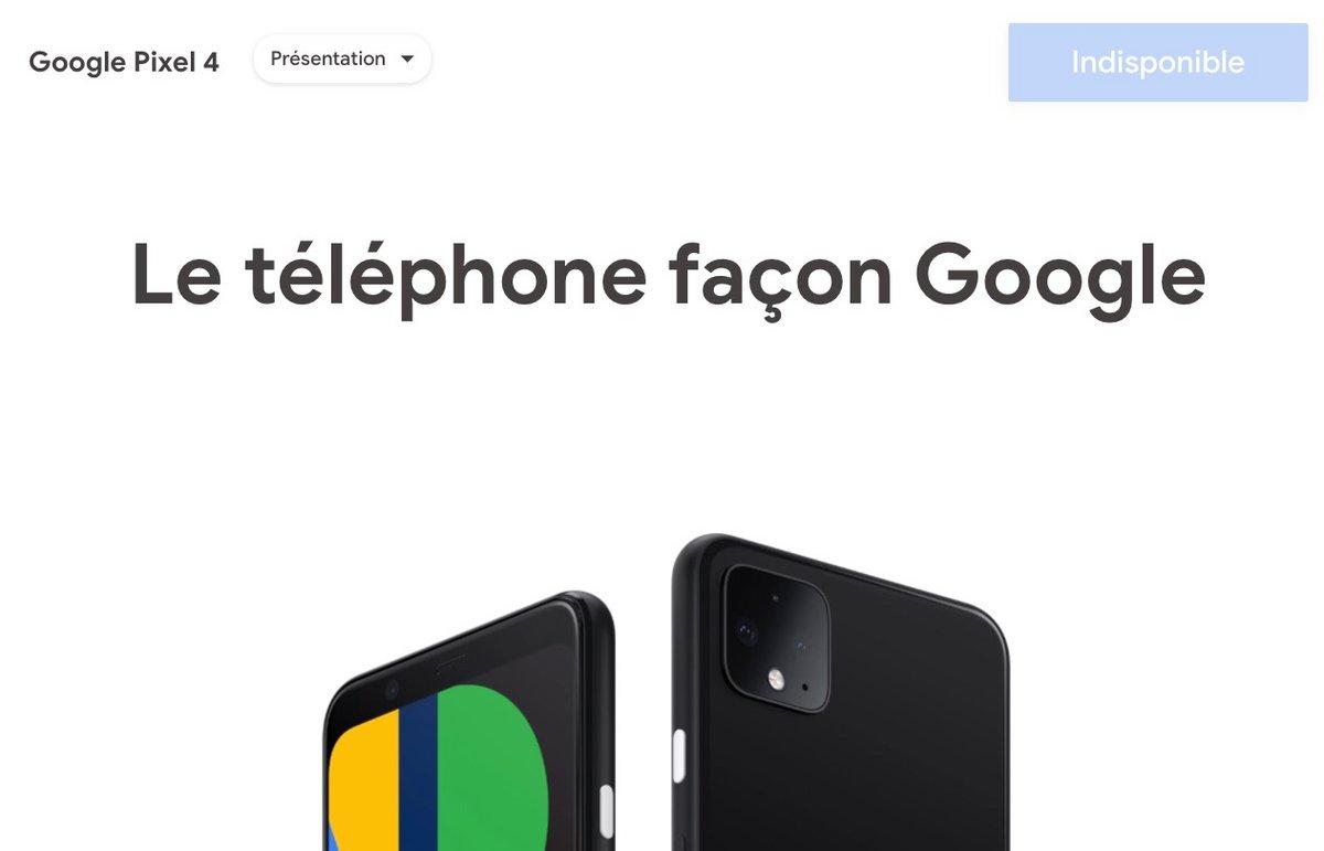 Google Pixel 4 arrêt production © Capture d'écran