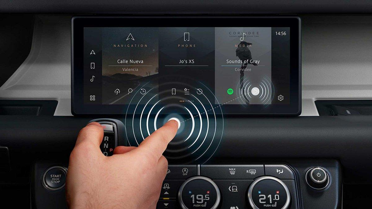 Ecran sans contact Jaguar Land Rover © Jaguar Land Rover