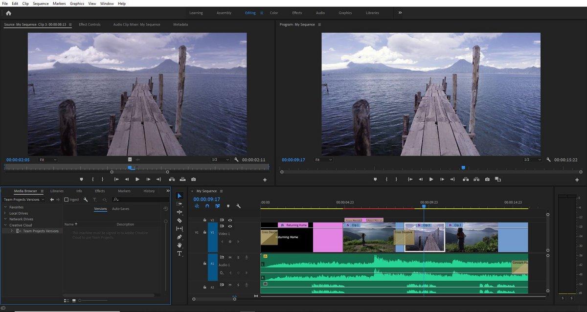 Ecran Montage Premiere Pro © SP