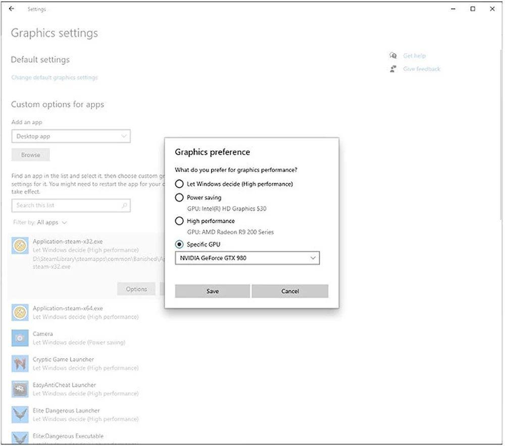 Choisir son GPU sous Windows 10 © BleepingComputer