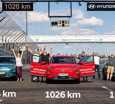 La Hyundai Kona passe la barre des 1 000 km d'autonomie