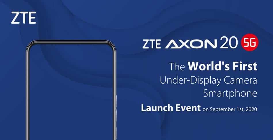 ZTE Axon 20 5G caméra sous écran © ©ZTE