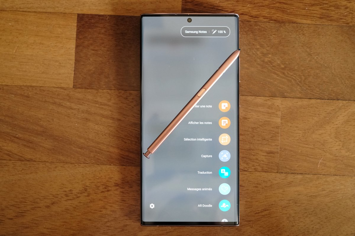 Samsung Note 20 Ultra 5G - stylet 2 © Clubic - Marc Mitrani