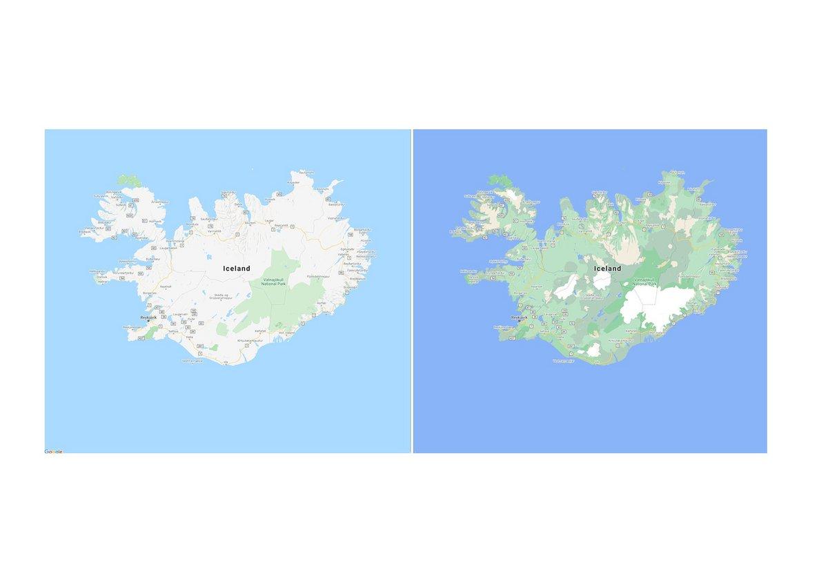 Google Maps forêts satellite © © Google