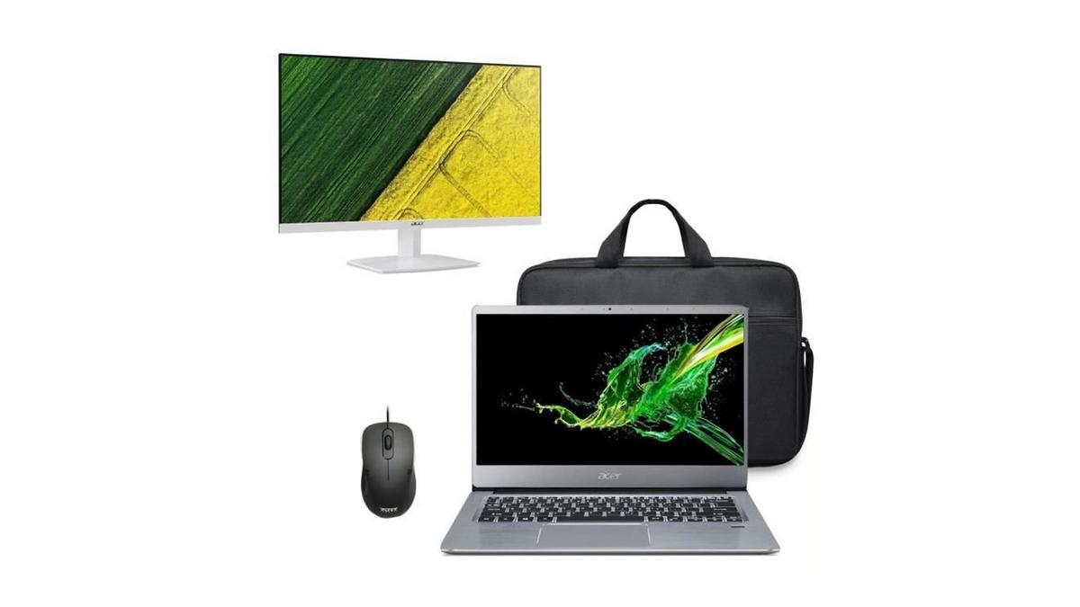 """Pack Pc portable Acer avec ses accessoires et un écran 23"""""""